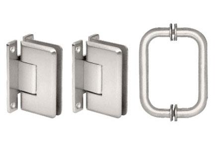 Pinnacle Hinge And Handle Set Shower Hardware