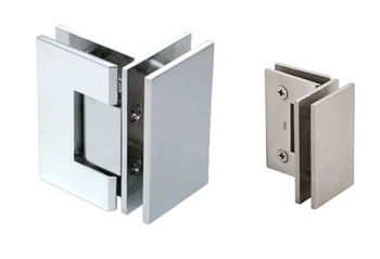 90 Degree Glass to Glass Mount Hinges