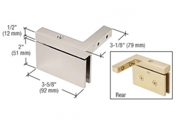 CRL Wall Mount Top and Bottom Pivot Mount Hinges