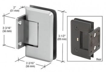Pinnacle 574 5º Pre-Set Wall Mount Short Back Plate Hinge
