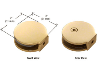 CRL Round Style Fixed Panel Clamps