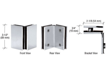 CRL 90 Degree Glass-to-Glass Brackets