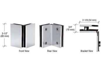 CRL 90 Degree Glass-to-Glass Brackets