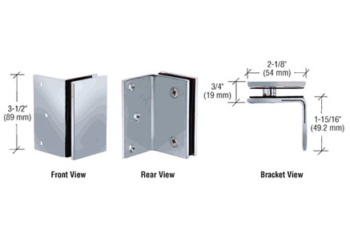 CRL Wall Mount Brackets for Fixed Panels