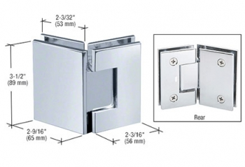 CRL Geneva Series Glass-to-Glass Mount Hinges