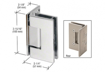 CRL Vienna Wall Mount Offset Back Plate Hinges