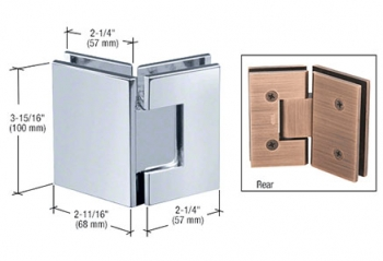 CRL Vienna Series Glass-to-Glass Mount Hinges