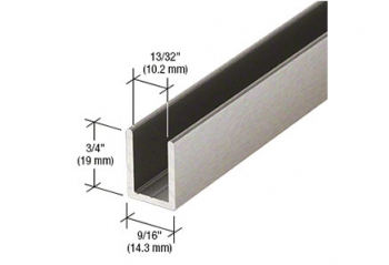 "CRL Deep U-Channel for 3/8"" and 1/2"" Glass"